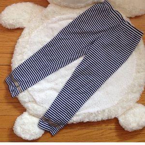 BOGO Juicy Couture Navy & White Striped Leggings